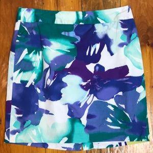 3/$27 Loft Purple Green Tropical Summery Skirt